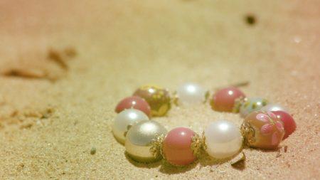 bracelet, jewelry, sand