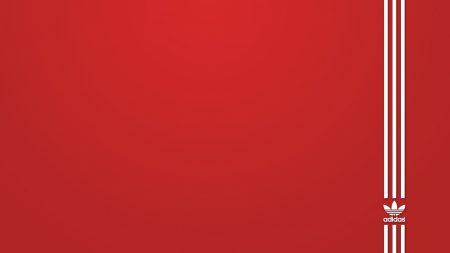 brand, adidas, red