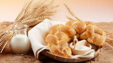 bread, roll, sesame