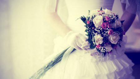 bride, bouquet, flowers