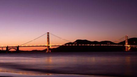 bridge, city, river