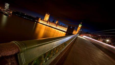 bridge, night, sky