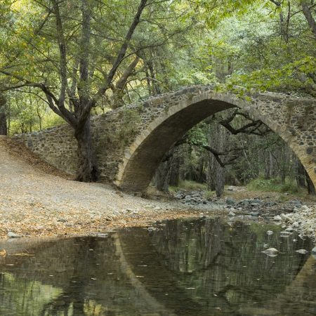 bridge, river, stones