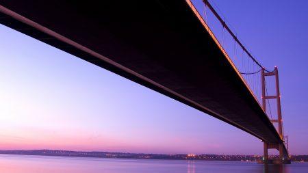 bridge, sea, ocean