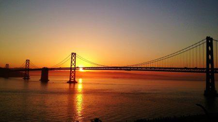 bridge, sky, sunrise
