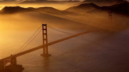 bridge, water, sea