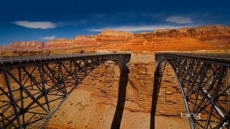 bridges, canyon, height