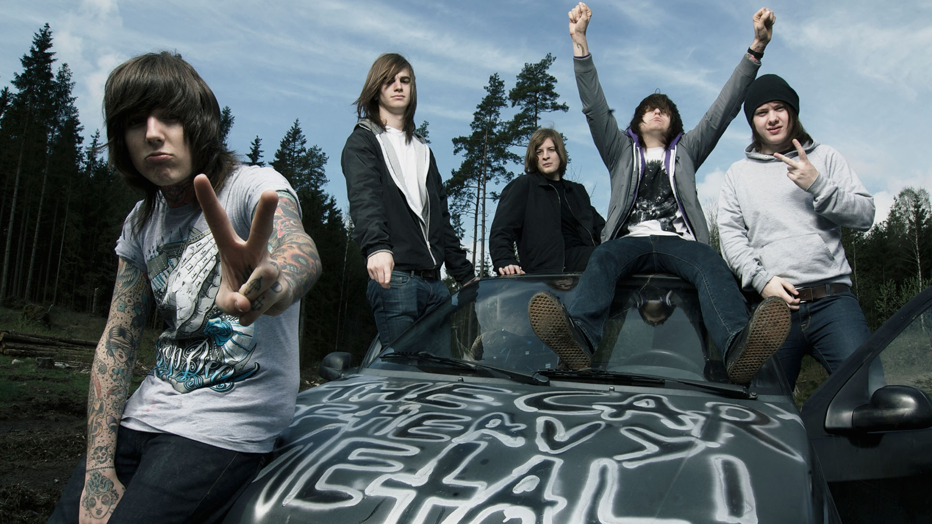 Download Wallpaper 1920x1080 Bring Me The Horizon Tattoo Forest