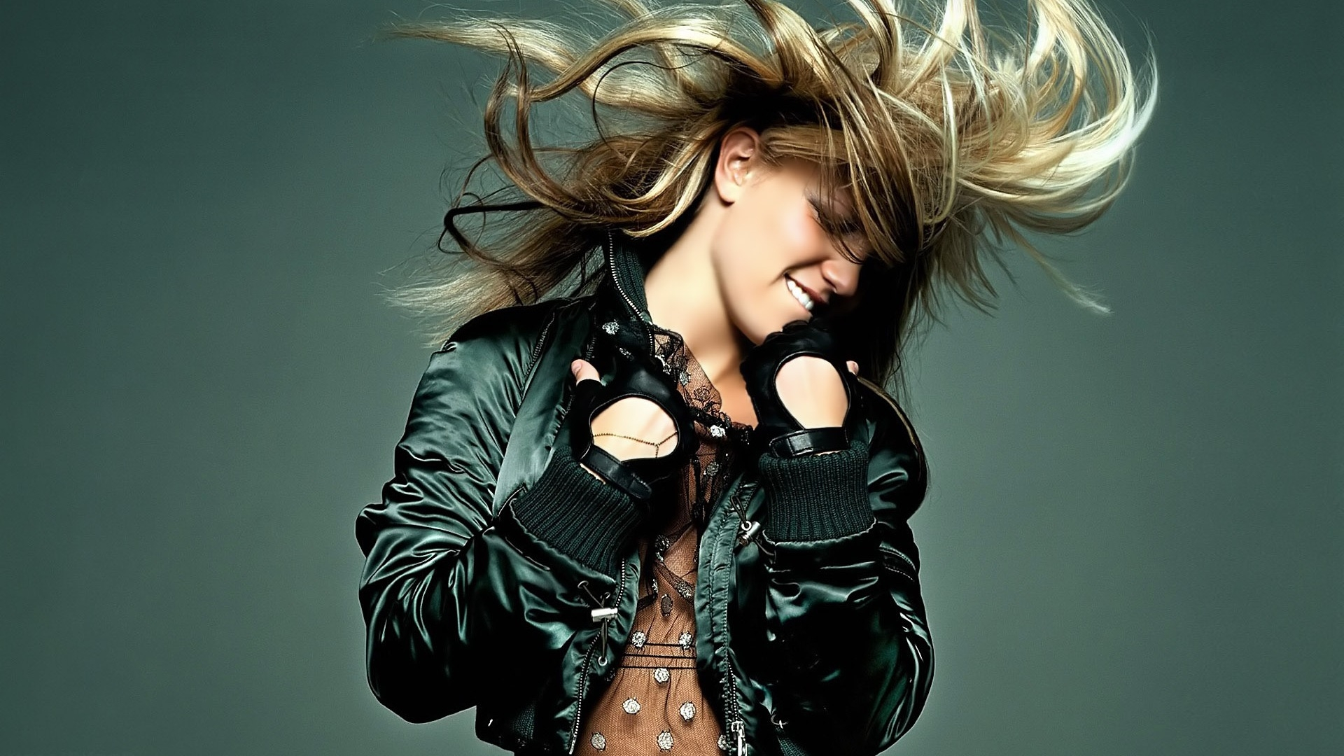 Download Wallpaper 1920x1080 Britney Spears, Hair, Jacket