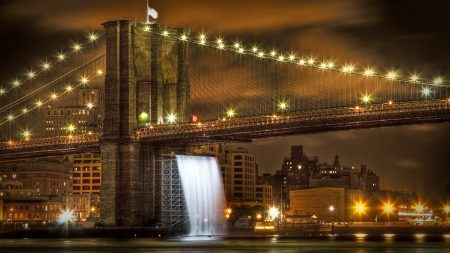 brooklyn bridge, united states, new york city