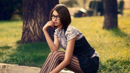 brunette, girl, style