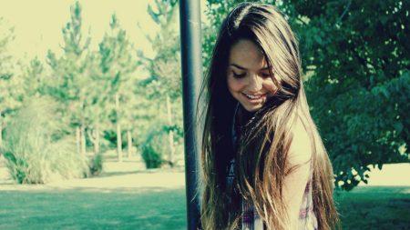 brunette, hair, long