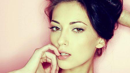 brunette, model, face