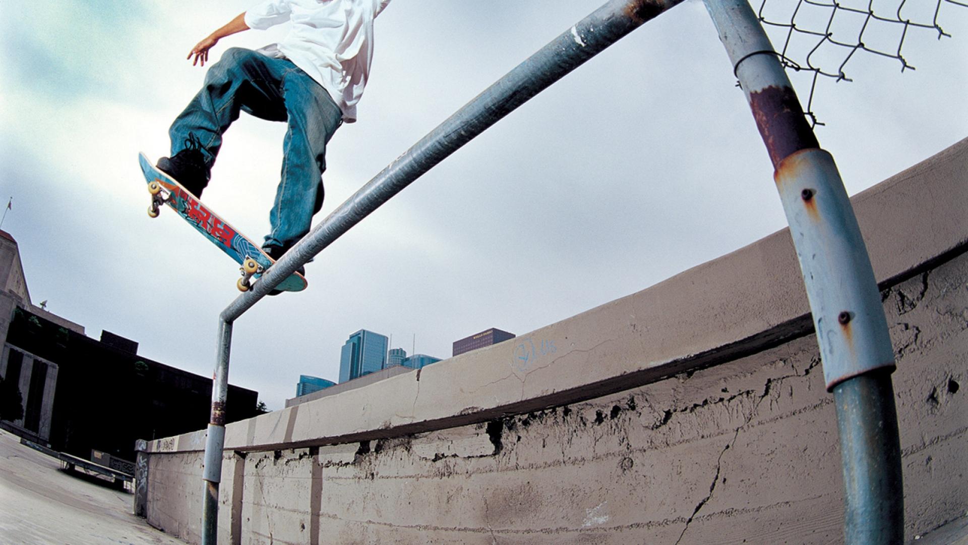 Download Wallpaper 1920x1080 Bryan Wenning Handrail Skateboard Board Trick Full Hd 1080p Hd Background