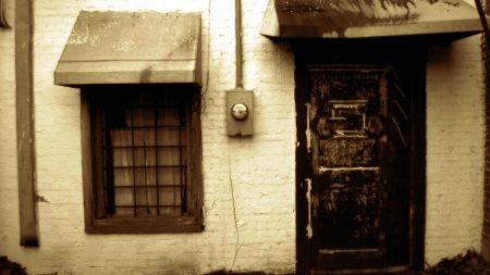 building, door, window