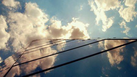building, light, clouds