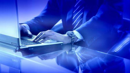 businessman, hands, keyboard
