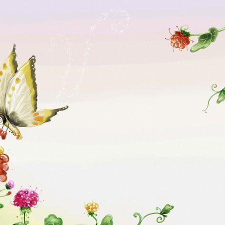 butterfly, flowers, flight