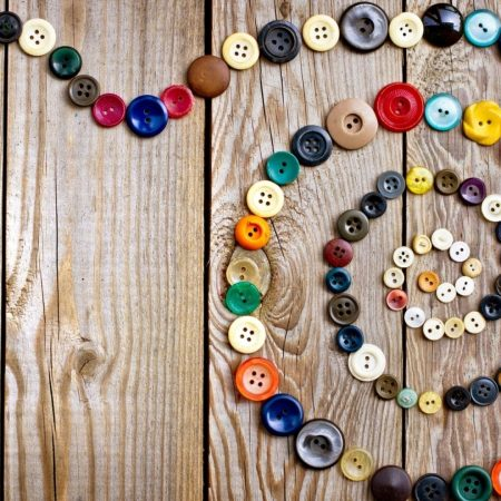 buttons, scroll, colorful