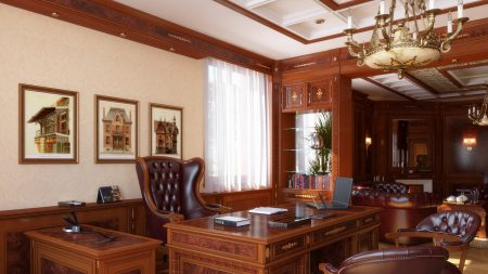 cabinet, table, chairs