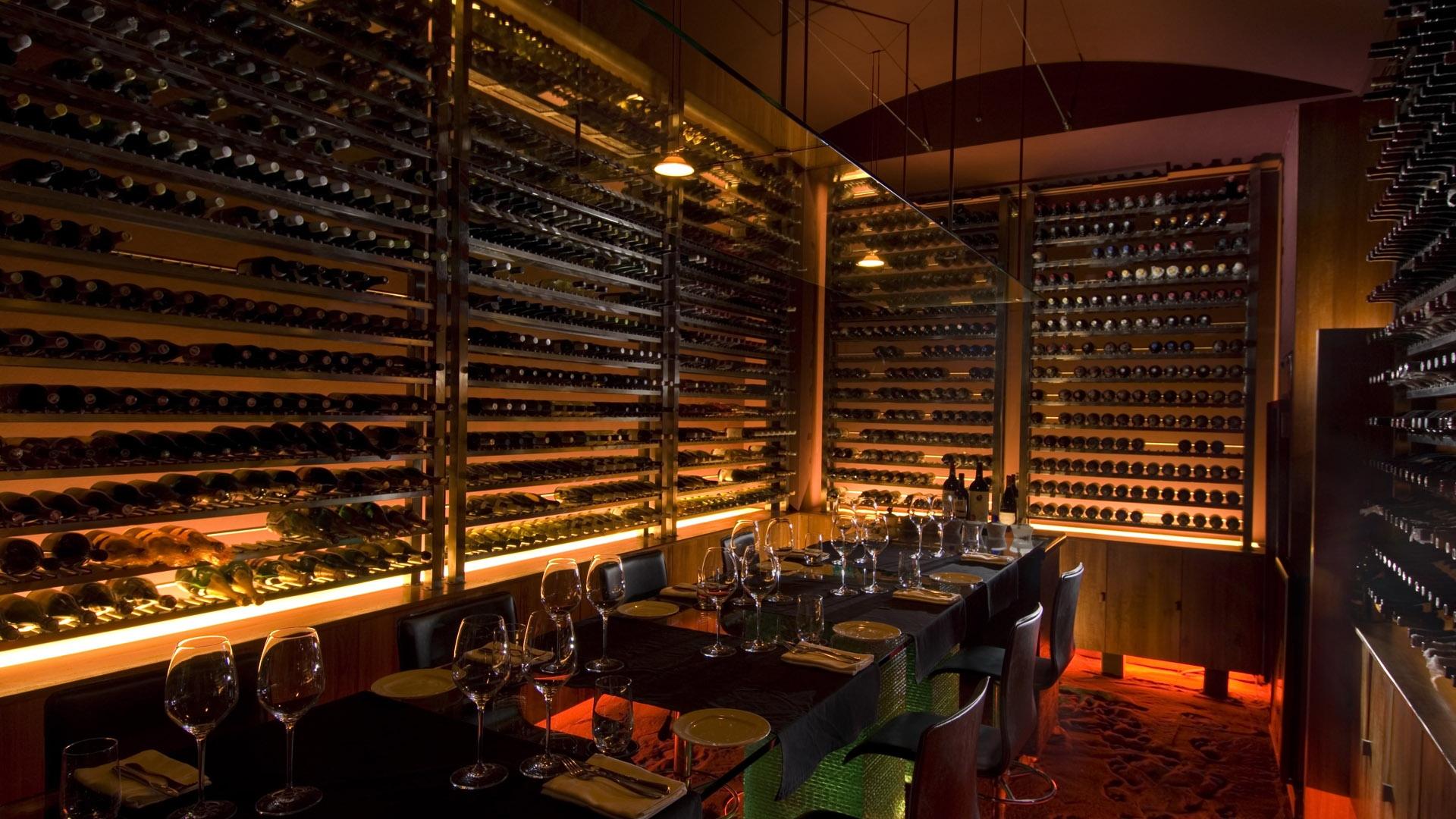 Download Wallpaper 1920x1080 Cafe Restaurant Wine Wine Racks Design Full Hd 1080p Hd Background