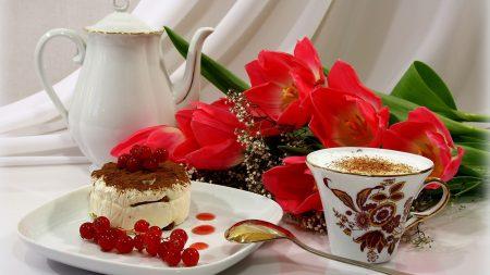cake, dessert, currant