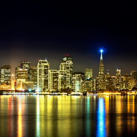 california, city, river
