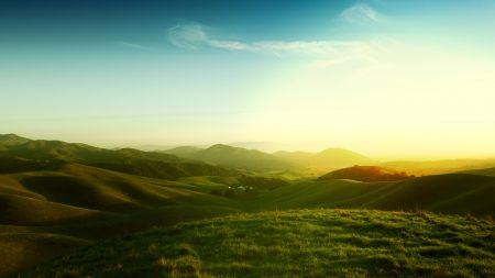 california, meadows, fields