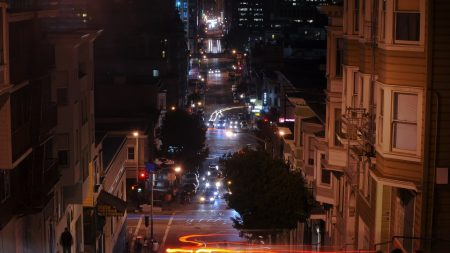 california, night, san francisco