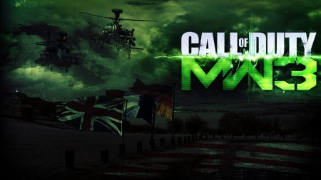 call of duty modern warfare 3, flags, helicopter