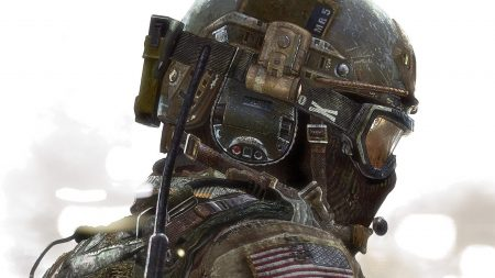 call of duty, soldier, flag