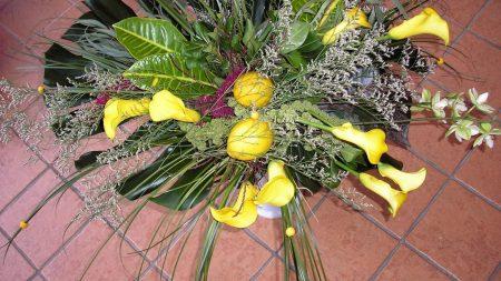 calla lilies, flowers, bouquet