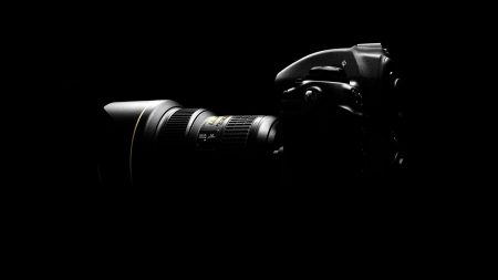 camera, black, light
