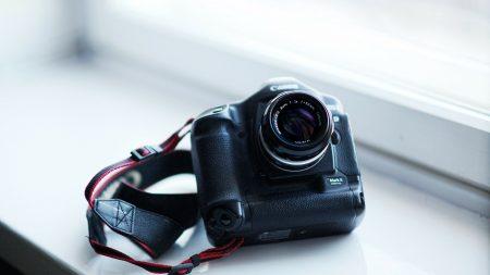 camera, black, strap