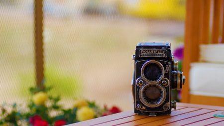 camera, desk, vintage