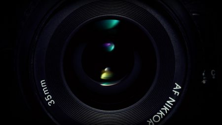 camera, lens, green