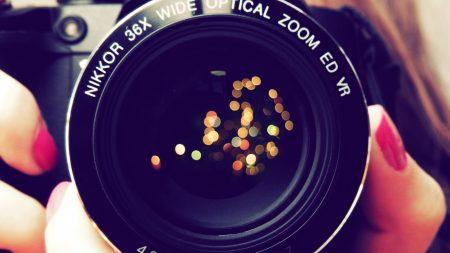 camera, lens, hands