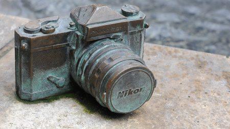 camera, nikon, old