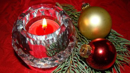 candle, christmas decorations, balloons