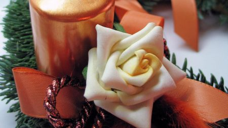 candle, flower, bud