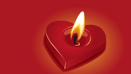 candle, heart, fire