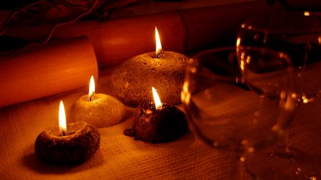 candles, fire, romance