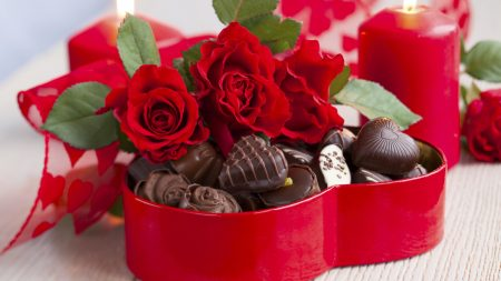 candy, rose, holiday