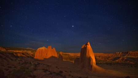 canyon, desert, night