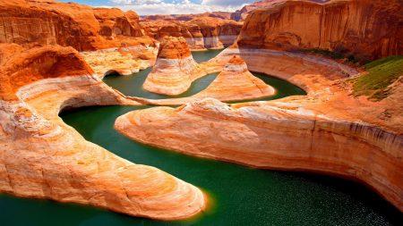canyon, river, mountains