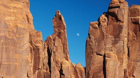 canyons, rocks, moon