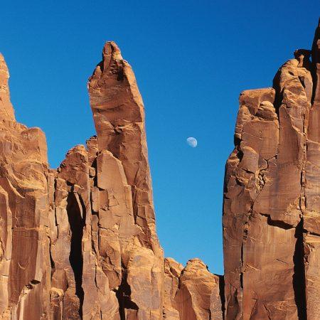 canyons, rocks, moon