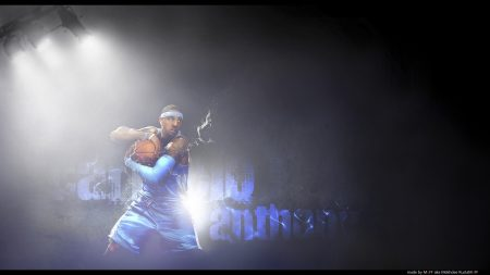 carmelo anthony, basketball player, ball