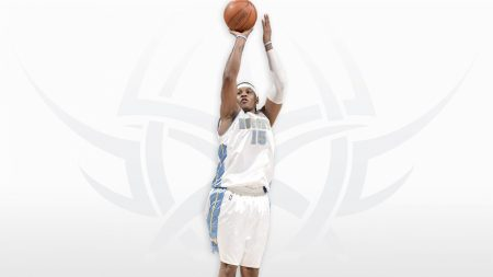 carmelo anthony, jump, basketball player