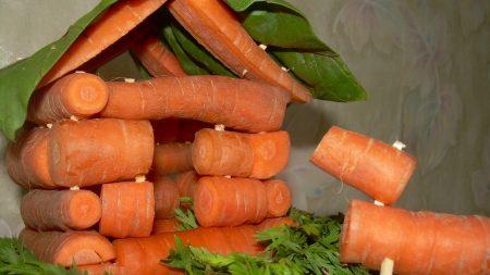 carrots, root crop, tops of vegetable